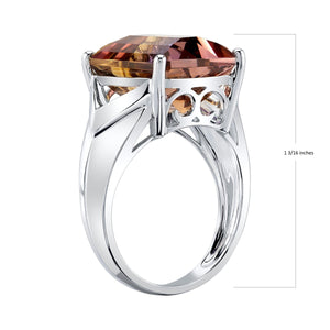 14K 9.16 Cts Ametrine Diamond Ring - TVON