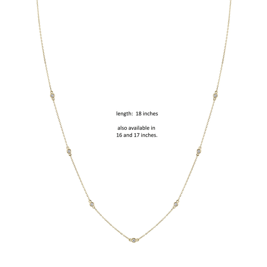 14K 0.09 Cttw VS Diamond Necklace
