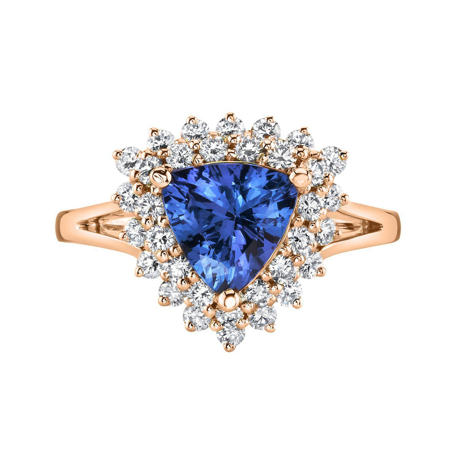 14K 1.58 Cts Tanzanite 0.62 Cttw VS Diamond Ring - TVON.com