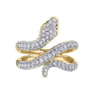 14K 0.99 Cttw VS Yellow and White Diamond Ring - TVON.com