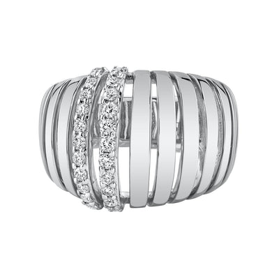 multiple row diamond ring