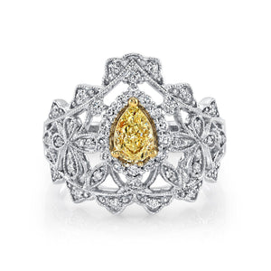 pear shaped diamond ring rose gold