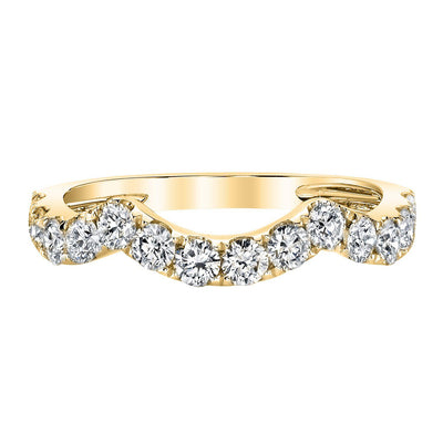 TVON - 0.78Cts Round Shape Natural Diamond -  Stackable Wedding Band Ring for Women in 14K Gold  with Prong Setting