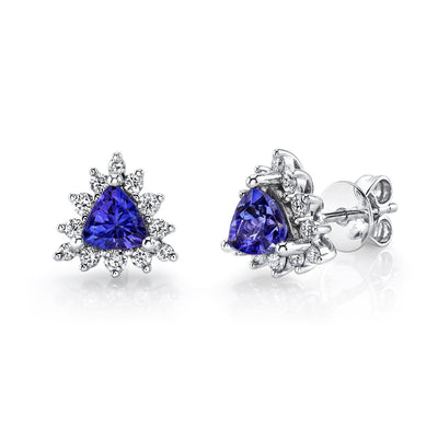 tanzanite earrings studs