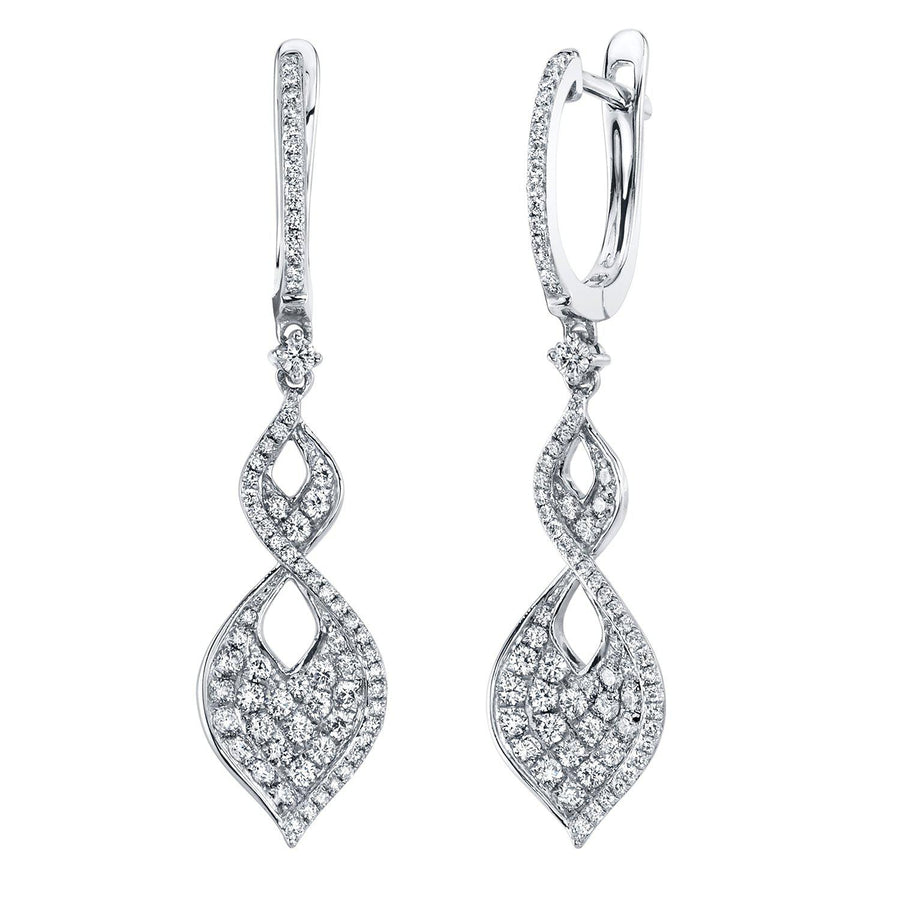 14K 0.93 Cttw VS Diamond Earrings - TVON.com