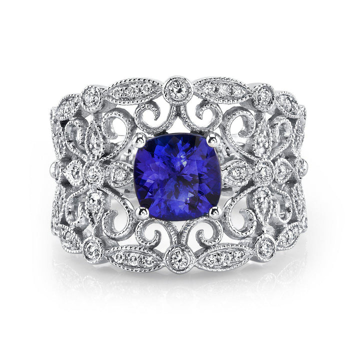 14K 1.43 Cts Tanzanite 0.28 Cttw VS Diamond Ring - TVON