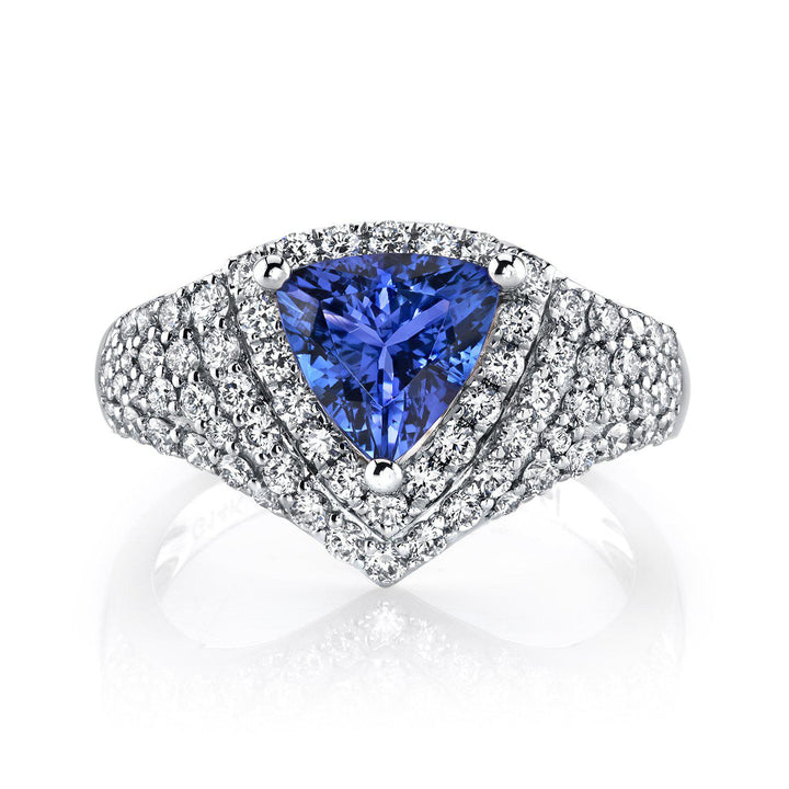 14K 1.75 Cts Tanzanite 0.98 Cttw VS Diamond Ring - TVON