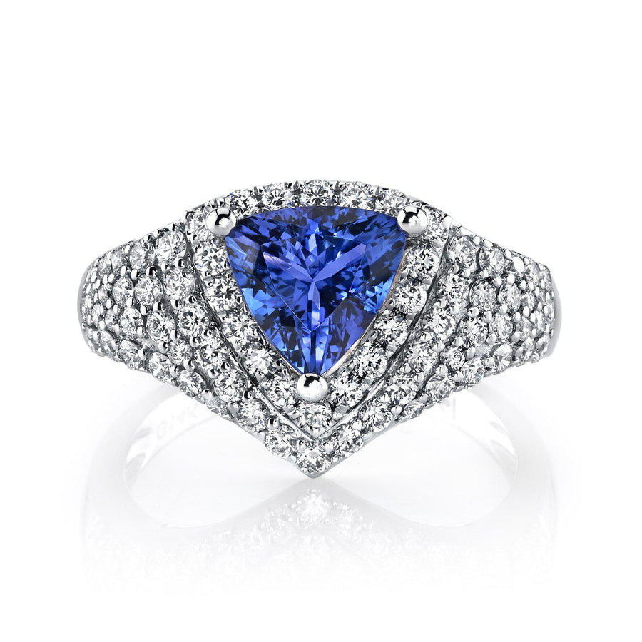 14K 1.75 Cts Tanzanite 0.98 Cttw VS Diamond Ring - TVON.com
