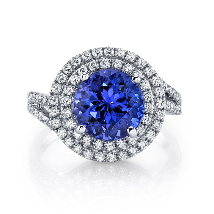 14K 3.00 Cts Tanzanite 0.62 Cttw VS Diamond Ring - TVON