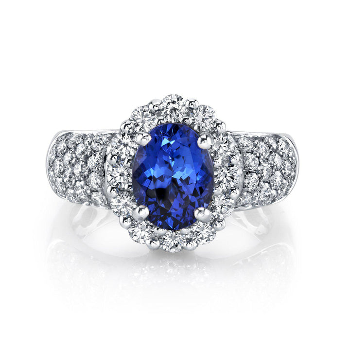 14K 1.97 Cts Tanzanite 0.91 Cttw VS Diamond Ring - TVON