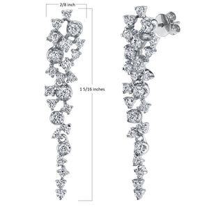 14K 0.76 Cttw VS Diamond Earrings - TVON.com