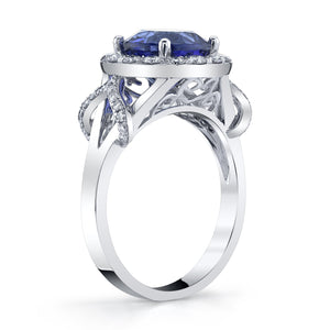 14K 3.02 Cts Tanzanite 0.62 Cttw VS Diamond Ring - TVON.com
