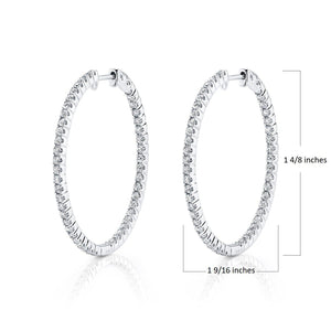 14K 1.81 Cttw VS Diamond Earrings - TVON.com