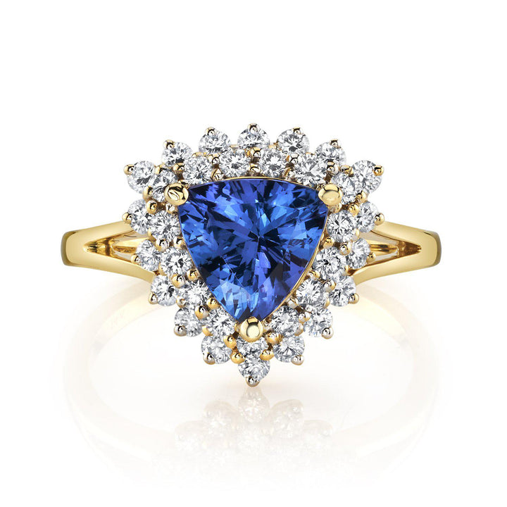 14K 1.58 Cts Tanzanite 0.62 Cttw VS Diamond Ring - TVON