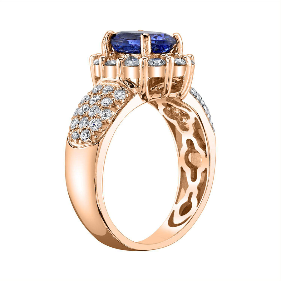 14K 1.97 Cts Tanzanite 0.91 Cttw VS Diamond Ring - TVON.com