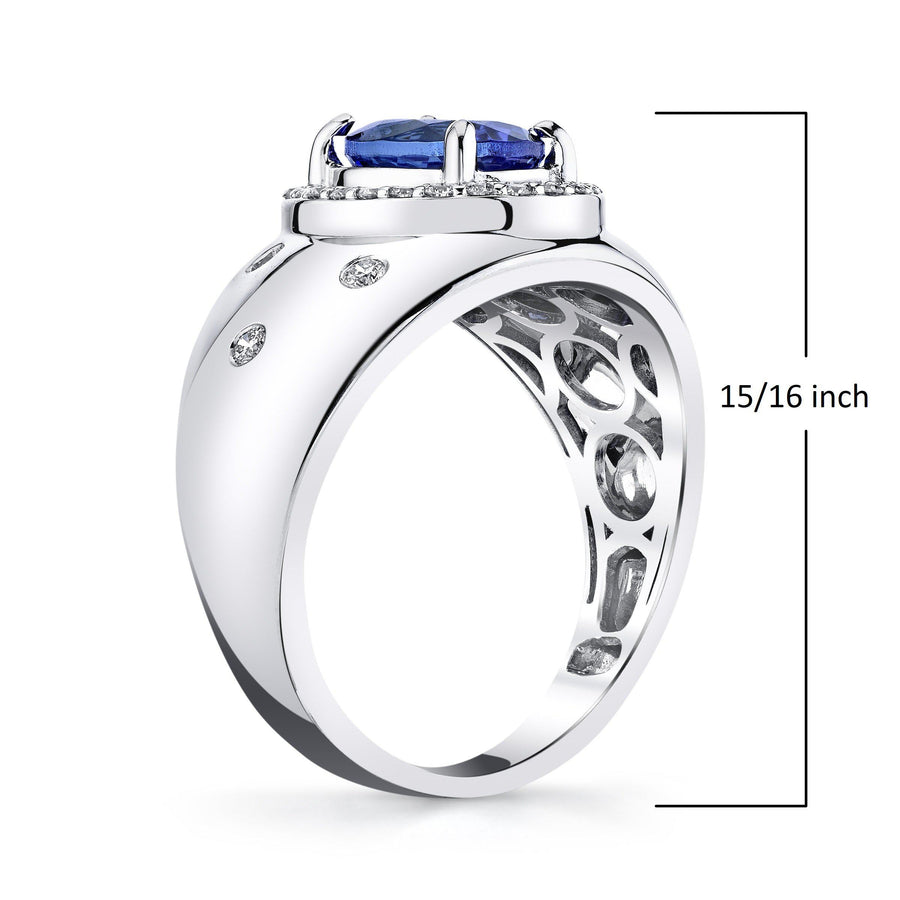 14K 1.2 Cts Tanzanite 0.21 Cttw VS Diamond Ring