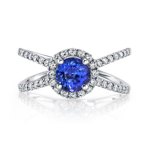14K 1.16 Cts Tanzanite 0.48 Cttw VS Diamond Ring - TVON.com