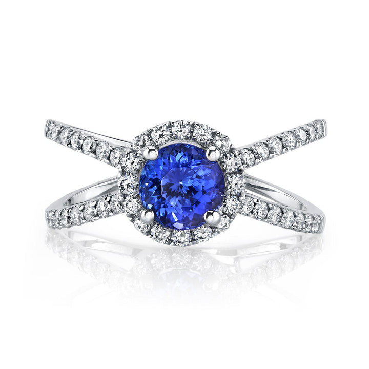 14K 1.16 Cts Tanzanite 0.48 Cttw VS Diamond Ring - TVON