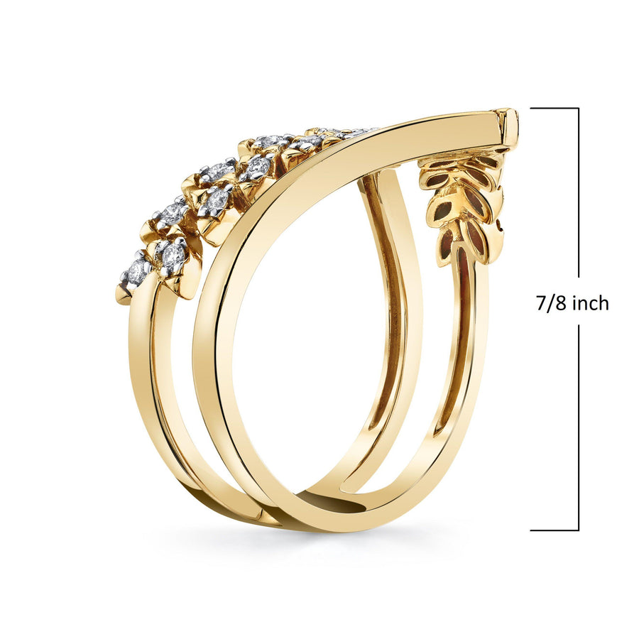 14K 0.18 Cttw VS Diamond Ring