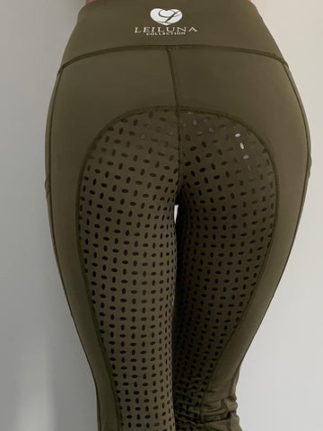 Olive Full Seat Riding Tights
