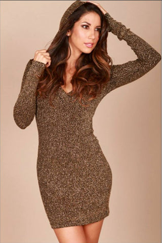 Hoodie dress - Gold
