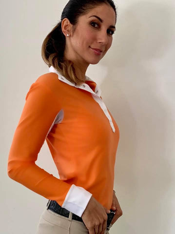 Orange riding shirt