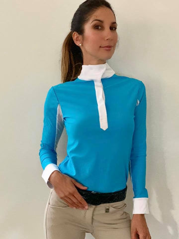 Turquoise riding shirt