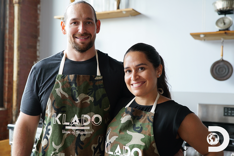 Jen and Jesse, Klado founders, house of Brigadeiros. Our story.