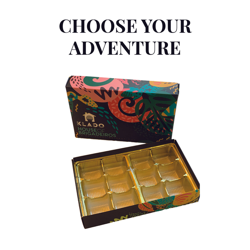 KLADO Choose Your Adventure Box of 12 Brigadeiros