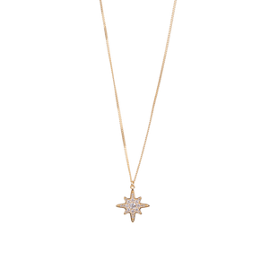9ct Yellow Gold Starburst Pendant