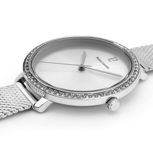 Pierre Lannier Couture Full Silver 34.5mm Watch