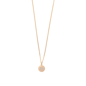 9ct Yellow Gold Starburst Button Pendant