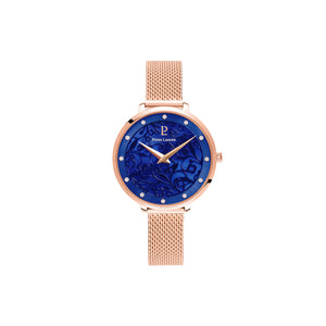 Eolia Rose Gold blue Rose Gold Mesh Watch