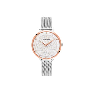 Eolia Rose Gold White Silver Mesh Watch
