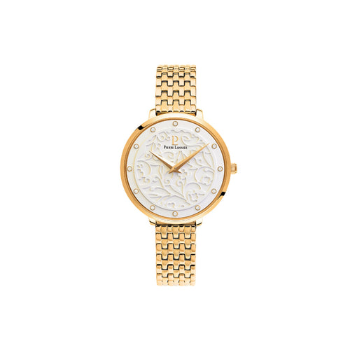 Eolia Gold White Gold Link Bracelet Watch
