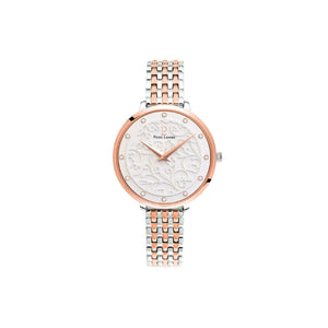 Eolia Rose Gold White Two tone Link Bracelet Watch
