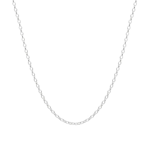 Silver Small Oval Belcher Chain