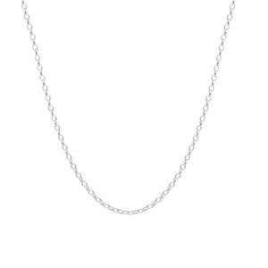 Silver Medium Oval Belcher Chain