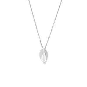 Silver Curved Drop Necklace