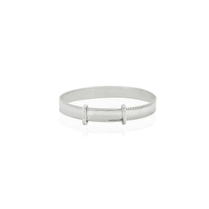 Silver Plain Expandable Baby Bangle