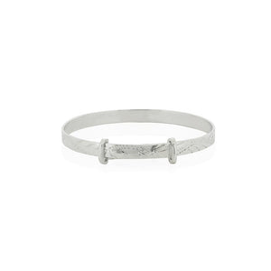 Silver Engraved Expandable Childs Bangle