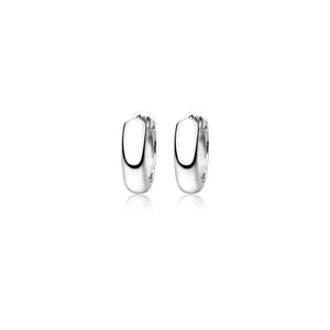 Silver Auria Huggie Earrings