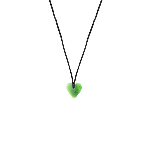 NZ Greenstone Heart 20mm Pendant