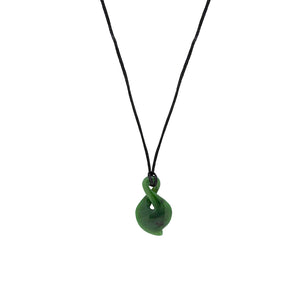 NZ Greenstone Single Twist 30mm Pendant