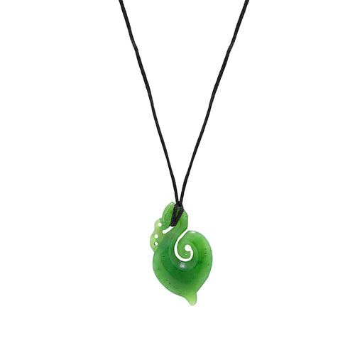 NZ Greenstone Manaia Pendant 40mm