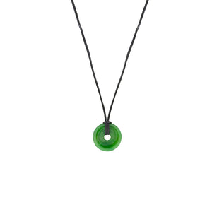 NZ Greenstone Donut Pendant 15mm Pendant