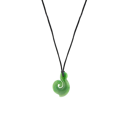 NZ Greenstone Koru 35mm Pendant