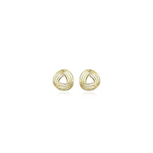 9ct Gold Woven Stud Earrings