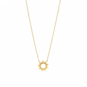 Gold Plated Sunray Necklace