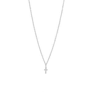 Silver Mini Cross Necklace